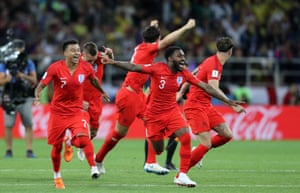 Eric Dier is the man who steps up and scores the winning penalty for England sparking wild celebrations. That's the first time England have ever won a penalty shootout.