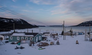 The Inuit community of Rigolet on the northern coast of Labrador as seen in front of Hamilton Inlet.