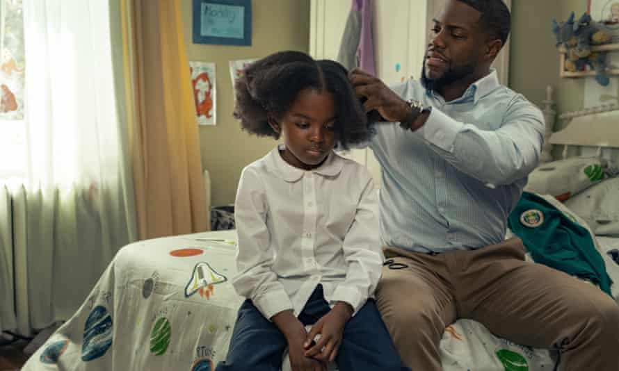 Kevin Hart as Matt and Melody Hurd as Maddy in new comedy drama Fatherhood.