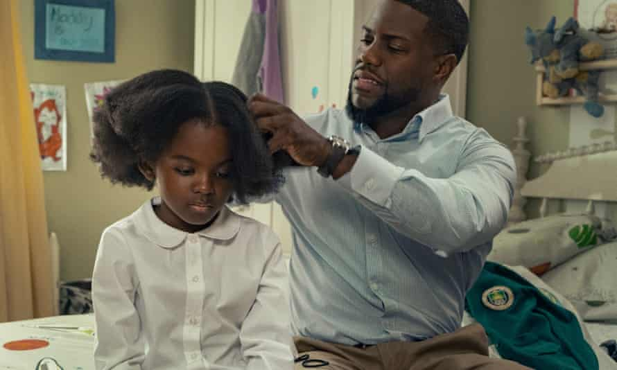 Melody Hurd and Kevin Hart in Fatherhood.