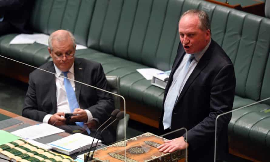 Scott Morrison and Barnaby Joyce in parliament