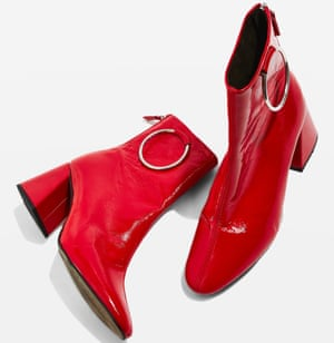 MIA patent leather ring boots, £82, Topshop