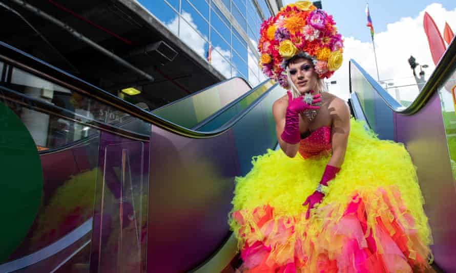 Dammitt Janet poses ahead of the Gay and Lesbian Mardi Gras parade