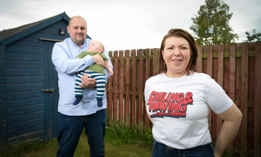 Elaine Gregersen with her husband, Mark, and son Blake.