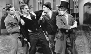 The Marx Brothers in the 1933 classic Duck Soup.