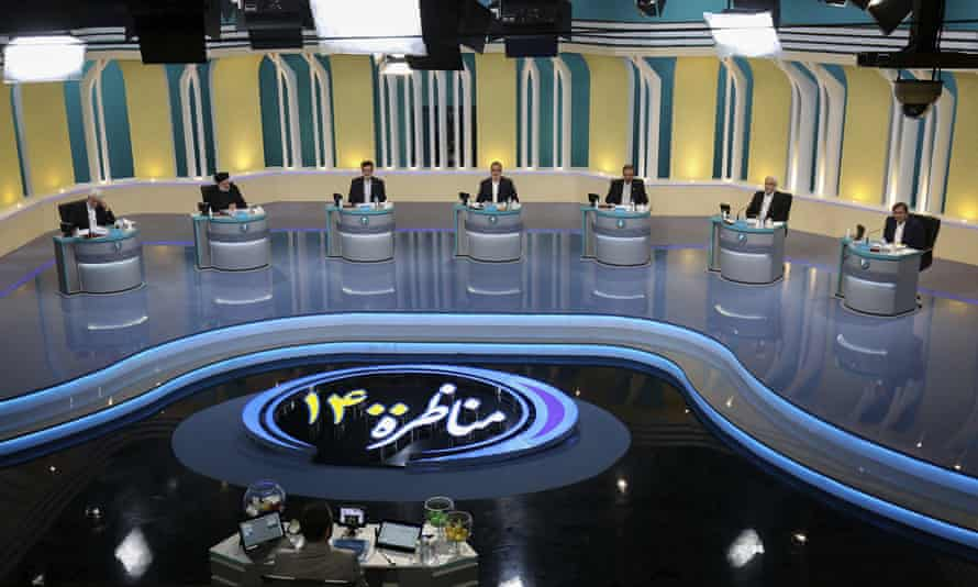 Iranian presidential candidates participate in the televised debate