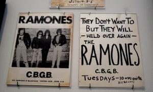 The Ramones items on display