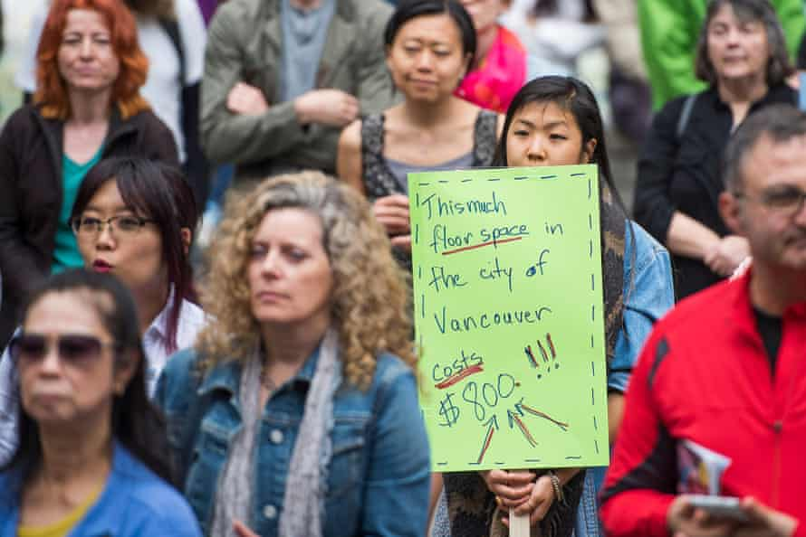 protest house prices Vancouver