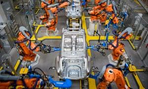 Jaguar Land Rover manufacturing plant in Solihull, Birmingham