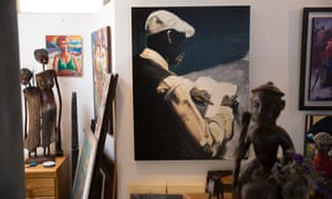 A small selection of Goldberg's art collection at his home in Hout Bay.