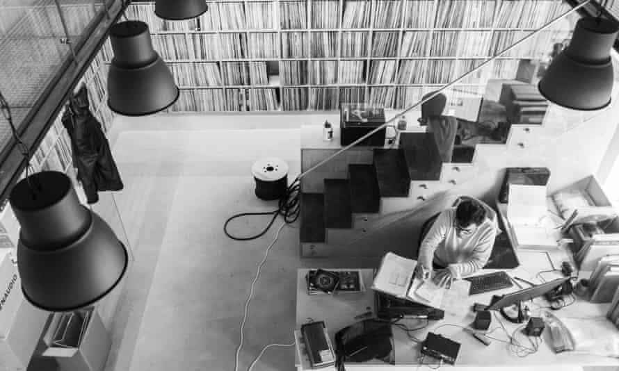 Armando Sousa, 35, creator and archivist at Plataforma Campanhã's new vinyl library.