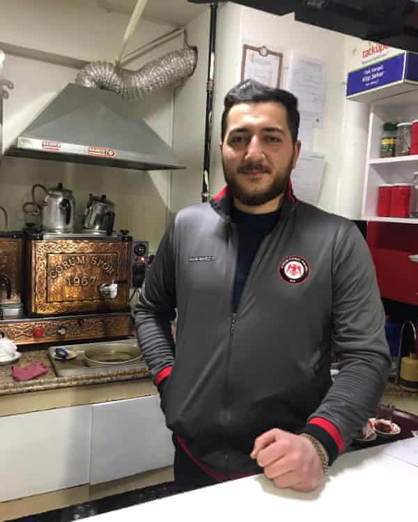 Hüseyin Nalcı, 38, co-owner of the Kırmızı Şimşekler (Red Lightning) teahouse in Çorum