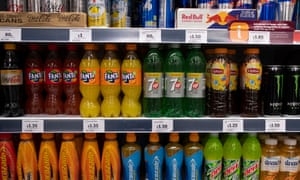 Soft drinks on sale in a supermarket in central London.