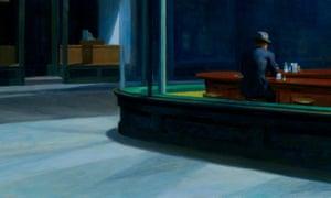 Detail from Nighthawks by Edward Hopper