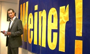 Anthony Weiner, on the campaign trail.