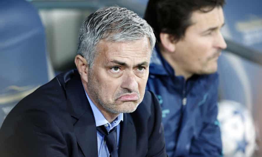 José Mourinho does not like what he sees.