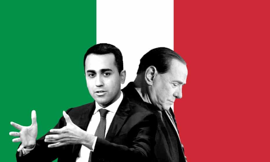 Luigi Di Maio and Silvio Berlusconi