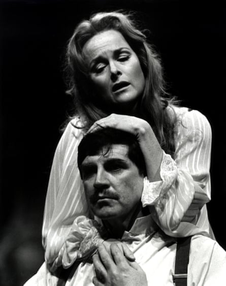 Alan Bates and Sheila Gish in A Patriot for Me at the Chichester Festival theatre.