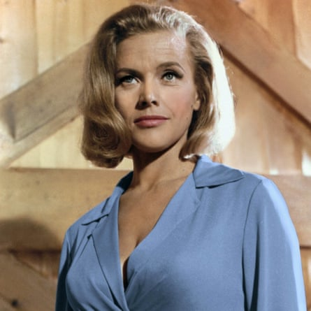Honor Blackman as Pussy Galore in Goldfinger.