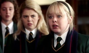 Nicola Coughlan in a scene from Derry Girls.