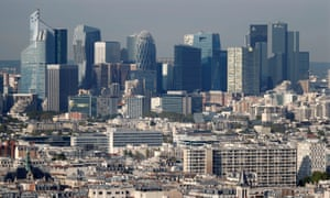 The skyline of La Défense has changed as new construction has taken place.