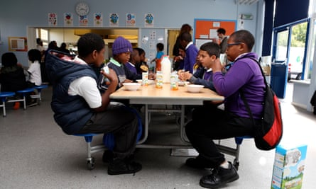 Children at a pre-school breakfast club.
