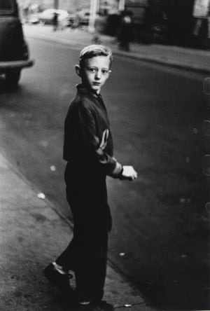 Boy stepping off the curb, NYC, 1957–58. All photographs: © The Estate of Diane Arbus LLC