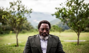 Joseph Kabila sits in a garden at his personal ranch in Kinshasa earlier this month.