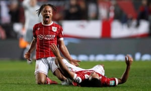 Bristol City players Bobby Reid and Korey Smith enjoy beating Manchester United in the League Cup quarter-finals.