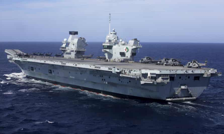 China has said that aircraft carrier HMS Elizabeth's foray into the South China Sea could 'destabilise regional peace'.
