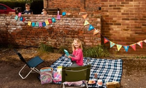 Her daughter's socially distanced sixth birthday party.