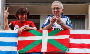 Athletic Bilbao and Real Sociedad fans get excited.