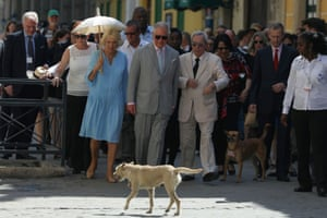 Havana, CubaBritain's Prince Charles and Camilla, Duchess of Cornwall, walk with Eusebio Leal, the official historian of Havana