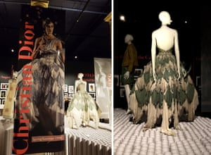 The exhibition recreates a Christian Dior design by John Galliano 1998 from Moore's photography.