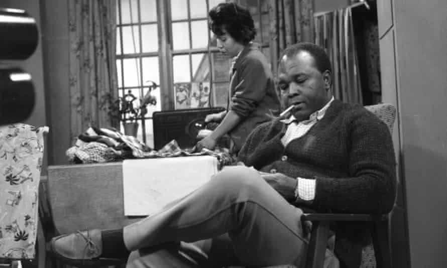Thomas Baptiste as Johnny Alexander with Barbara Assoon as his wife in a 1963 episode of ITV's Coronation Street.
