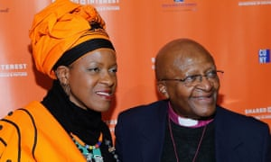 Mpho Tutu with her father, Desmond Tutu in New York in 2014.
