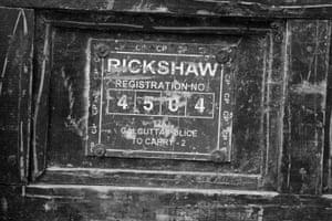 A Rickshaw number plate.