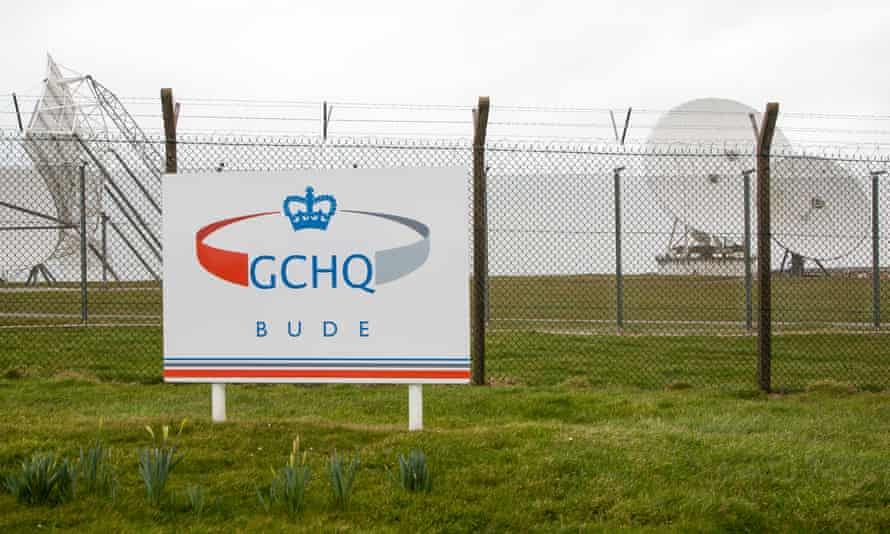 Satellite receiver dishes at a GCHQ facility near Bude, Cornwall.