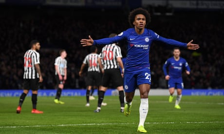 Willian winner gives Chelsea breathing space and leaves Newcastle in trouble