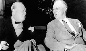 Wartime allies Sir Winston Churchill and Franklin D. Roosevelt