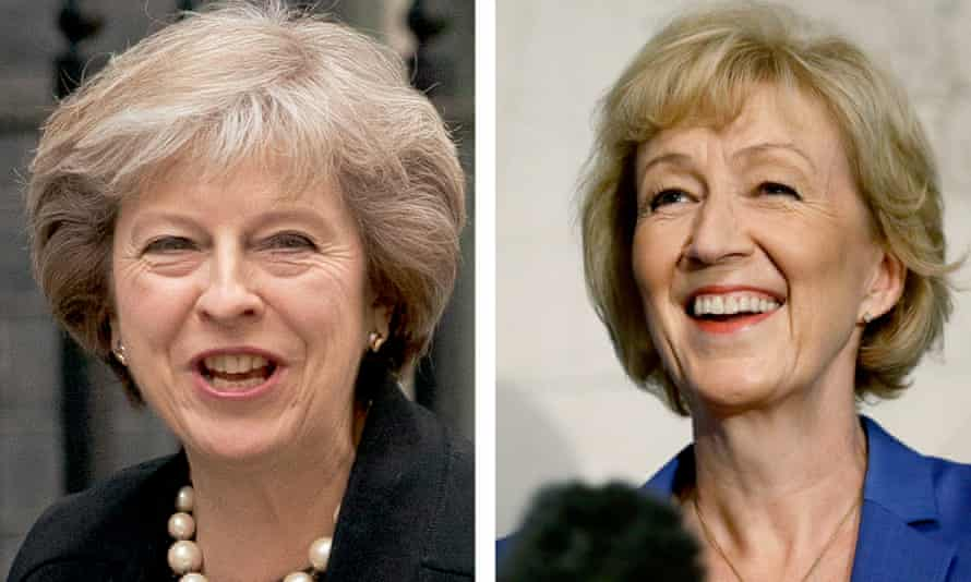 Theresa May, left, and Andrea Leadsom.