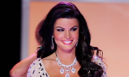 Sheena Monnin competing in the 2012 Miss USA competition.