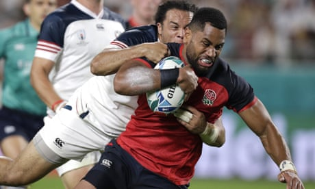 Cokanasiga helps England crush USA as Quill gets World Cup's first red card