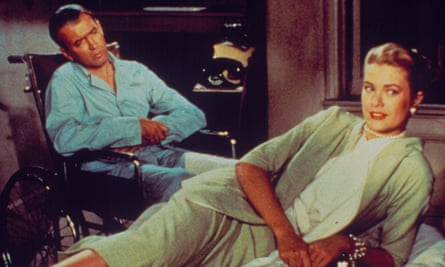 Haunted by Hitchcock … James Stewart and Grace Kelly in Rear Window.