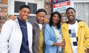 Moving in after six decades ... the Bailey family join Coronation Street.