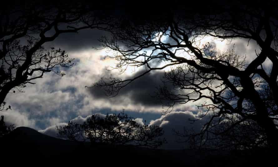 Lake District  stormy night sky