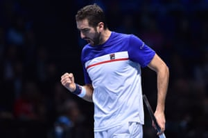 Cilic takes the first set.