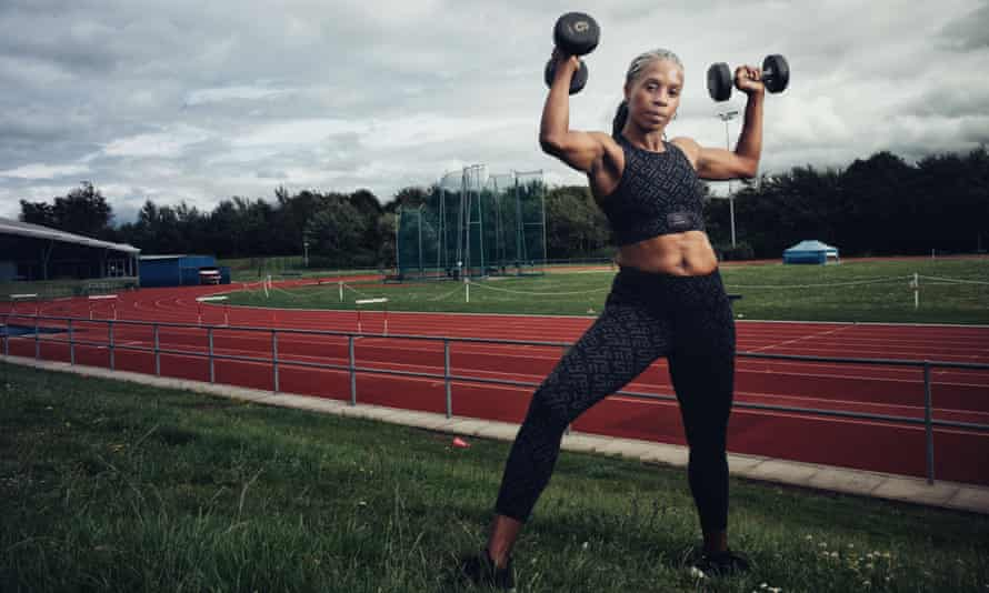 Jenny Stoute, a former Olympian and Gladiator, who adapted her fitness regime when the menopause started