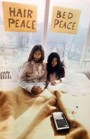 'Self-pitying' … John Lennon with Yoko Ono in 1969.