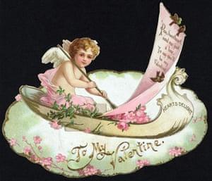 A Victorian Valentine's card.